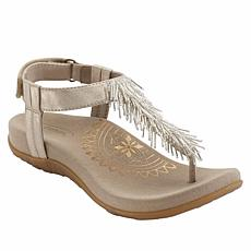 Aetrex® Portia Orthotic Beaded Fringe Thong Sandal