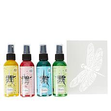 Aladine Izink Shimmering Mists Shiny Spray 4-pack with Stencil