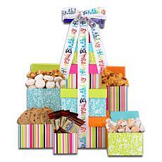 Alder Creek Gift Baskets - Happy Birthday Treats Tower