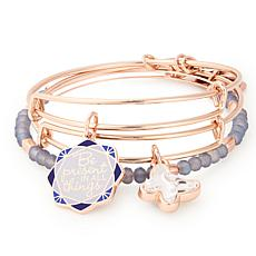 """Alex and Ani """"Be Present in All Things"""" 3pc Expandable Bangle Set"""
