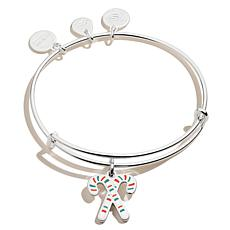 Alex and Ani Christmas Candy Canes Charm Expandable Bangle