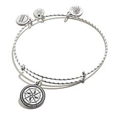 Alex and Ani Compass Embossed Paint Charm Bangle Bracelet