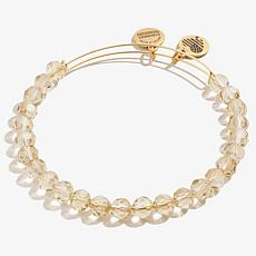 Alex and Ani Golden Starburst Beaded Expandable Bangle Bracelet