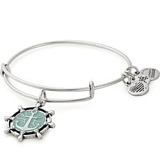 Alex and Ani Silvertone Anchor Color Infusion Charm Expandable Bangle