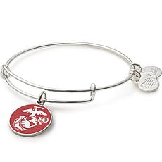 """Alex and Ani """"U.S. Marine Corps"""" Expandable Bangle Charm Bracelet"""