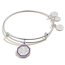 Alex and Ani Violet Flower February Charm Bangle