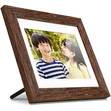 "Aluratek 8"" Distressed Wood Digital Photo Frame with Slideshow"
