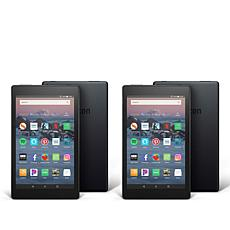 "Amazon Fire HD 8"" 16GB Tablet 2-pack with Custom Cases & App Vouchers"