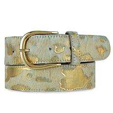 Amsterdam Heritage Luxe Dakota Cow Print Leather Belt