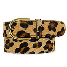Amsterdam Heritage Luxe Diane Leopard Print Leather Belt