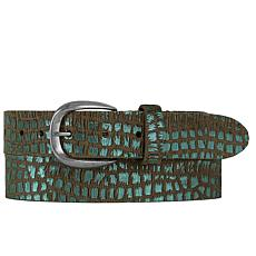Amsterdam Heritage Secil Metallic Mint Leather Belt
