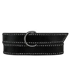 Amsterdam Heritage Selena Studded Wrap Black Leather Belt