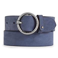 Amsterdam Heritage Yeliz Wide Blue Leather Belt