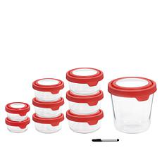 Anchor Hocking TrueSeal 18-piece Glass Food Storage Set with Pen