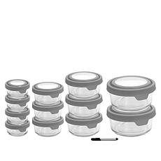 Anchor Hocking TrueSeal 24-piece Glass Food Storage Set with Pen