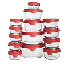 Anchor Hocking TrueSeal 28-pc Glass Food Storage Set & Dry Erase Pen