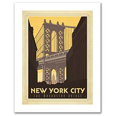 "Anderson Design Group ""Manhattan Bridge"" Canvas Art"