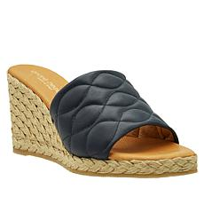 André Assous Annalise Quilted Leather Espadrille Wedge