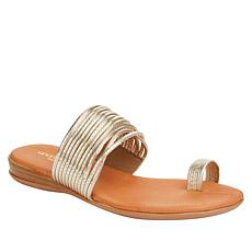 André Assous Vira Strappy Toe Ring Flat Sandal