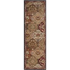 """Andrea Stark Home Collection Caesar Red Rug - 2'6"""" x 8'"""