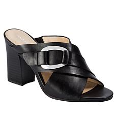 Andrew Geller Birdie Block-Heel Dress Slide