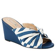 Andrew Geller Brenna Knotted Fabric Wedge Sandal