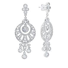 Andrew Prince 4.54ctw Cubic Zirconia Fan Drop Earrings