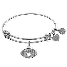 Angelica Football Dangle Wire Expansion Bangle Bracelet