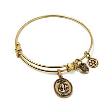 "Angelica Proud Mom Navy 7"" Slide-Clasp  Bracelet"