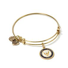 "Angelica U.S. Navy Charm 7"" Slide-Clasp Bangle Bracelet"
