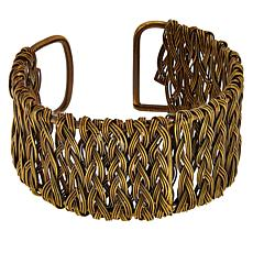 Anju Braided Basketweave Cuff Bracelet