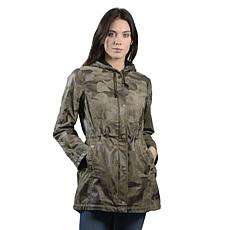 Anna Cai Hooded Camo Field Anorak Jacket