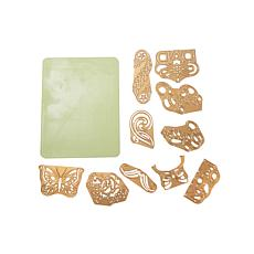 Anna Griffin® 10-piece Seasonal Die Set and Rubber Mat