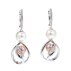 "Anne Geddes ""Hope"" White and Pink Earrings"