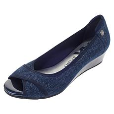 Anne Klein Corner Slip-On Wedge
