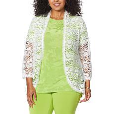 Antthony 3/4-Sleeve Crochet Cardigan