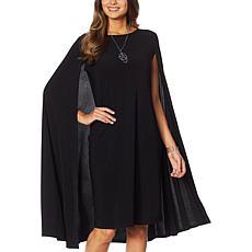 Antthony Cape Sheath Dress