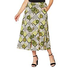 "Antthony ""Culturally Styled"" Printed Button-Up Skirt"