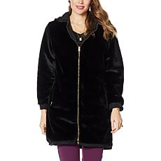 """Antthony """"Holiday Luxe"""" Reversible Hooded Coat"""