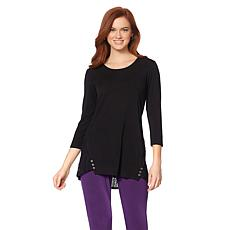 """Antthony """"Modern Eureka"""" Long-Sleeve Top with Stripes"""