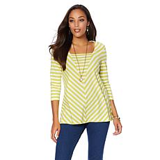 """Antthony """"Nantucket"""" Long-Sleeve Striped Top"""