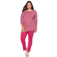 """Antthony """"Nantucket"""" Striped Top and Skinny Pant Set"""