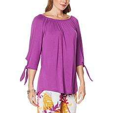 Antthony On/Off Shoulder Tie-Sleeve Tunic