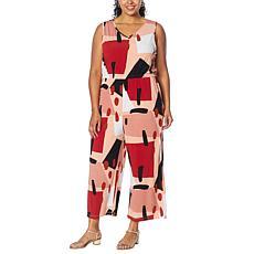Antthony Sleeveless Wide-Leg Cropped Jumpsuit