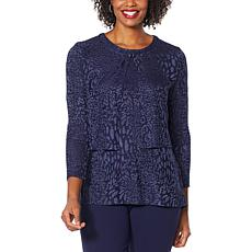 Antthony Textured Knit 3/4-Sleeve Shrug