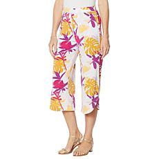 Antthony Wide-Leg Tulip-Hem Crop Pant