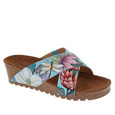 Anuschka Caroline Printed Leather Slip-On Sandal