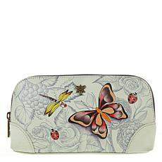 Anuschka Hand-Painted Genuine Leather Cosmetic Case