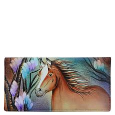Anuschka Hand Painted Leather Checkbook Cover
