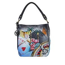 Anuschka Hand-Painted Leather Convertible Hobo